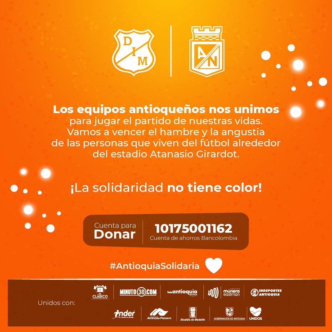 Antioquia Solidaria con el fútbol