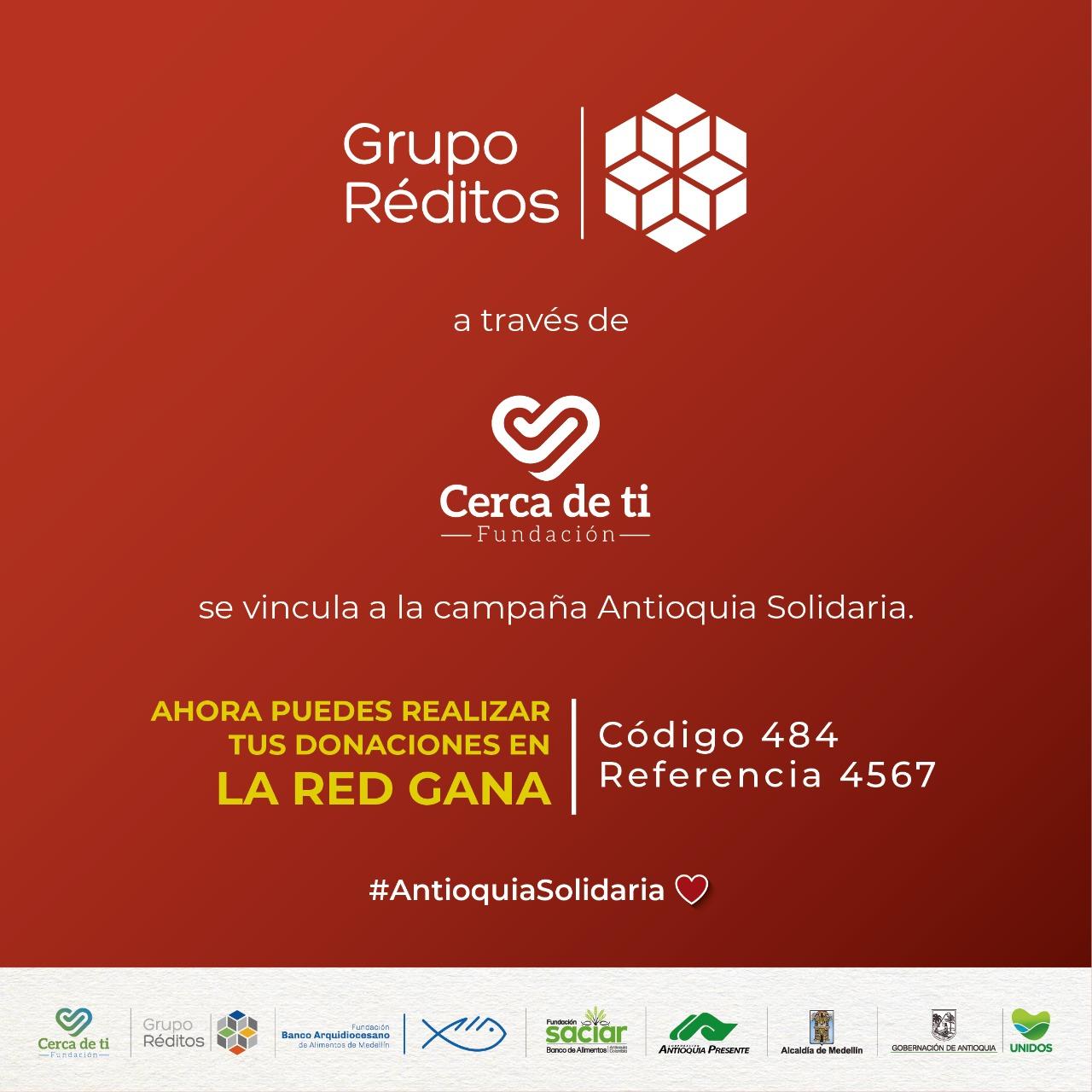 En 1.300 puntos de la Red GANA los ciudadanos podrán realizar aportes a la campaña Antioquia Solidaria