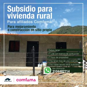 Subsidio de mejoramiento de vivienda rural