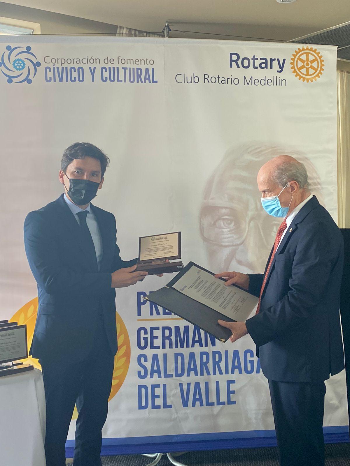 Antioquia Presente gana premio Germán Saldarriaga Del Valle 2021.